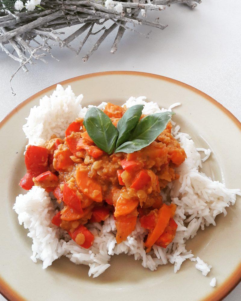 Szybki przepis: Warzywa z soczewicą i mieszanką tandoori masala